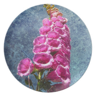 Foxglove with texture reaching for the sky. plate