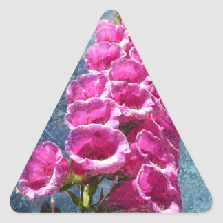 Foxglove with texture reaching for the sky. triangle sticker