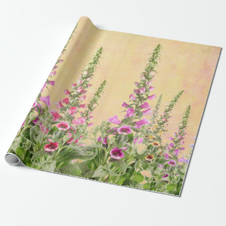 Foxgloves Digitalis Wrapping Paper