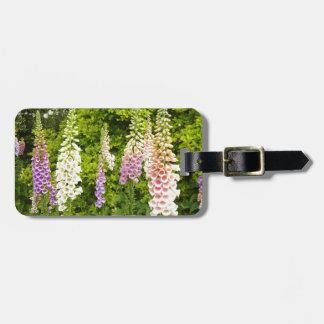 Foxgloves Luggage Tag