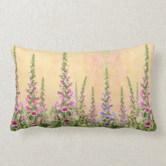 Foxgloves Lumbar Pillow