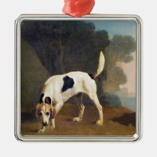 Foxhound on the Scent, c.1760 (oil on paper laid o Silver-Colored Square Decoration