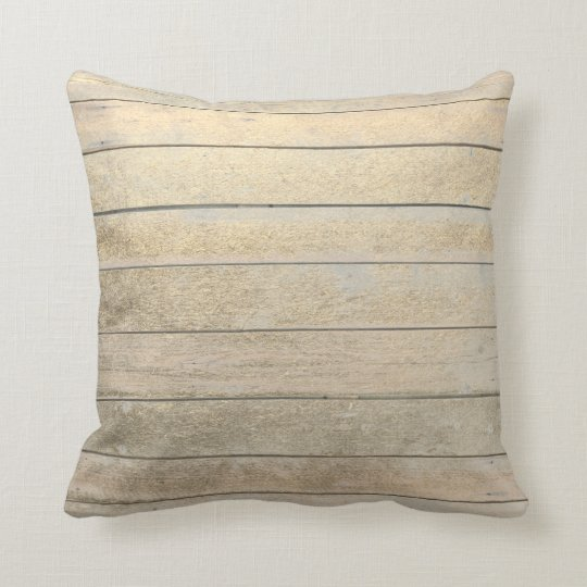 Foxier Gold Glam Metallic Wood Grungy Ivory Throw