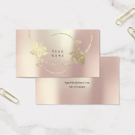 Foxier Gold Rose Pink Blush Pearly Floral Glam