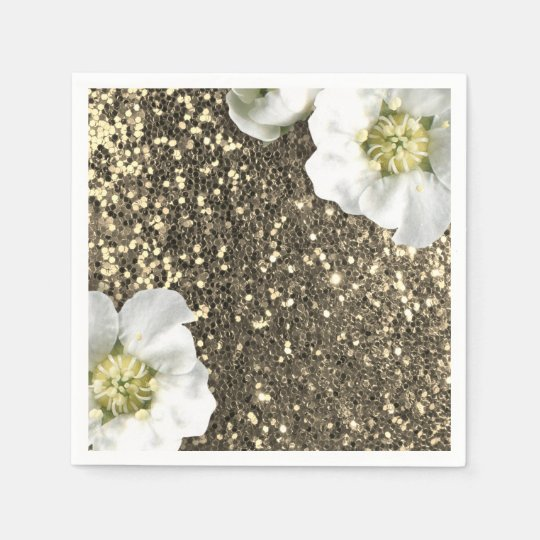 Foxier Sepia Gold Sparkly Jasmine Glitter Sequin Paper