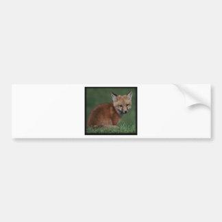 foxkit bumper sticker