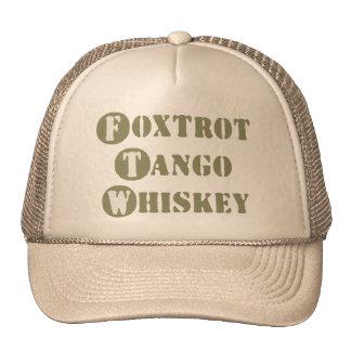 Foxtrot Tango Whiskey Mesh Hats