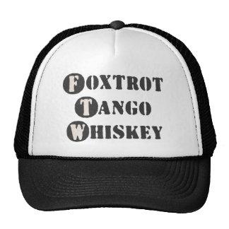 Foxtrot Tango Whiskey Trucker Hats