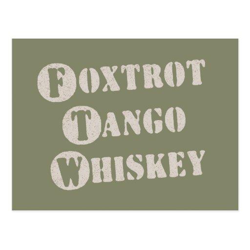 Foxtrot Tango Whiskey Postcard