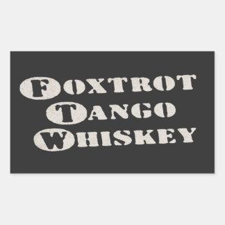 Foxtrot Tango Whiskey Rectangular Stickers