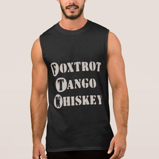 Foxtrot Tango Whiskey Sleeveless Tees