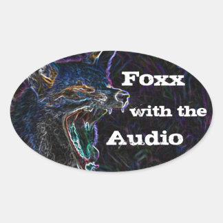 Foxx oval oval sticker