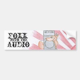 foxx sticker bumper sticker