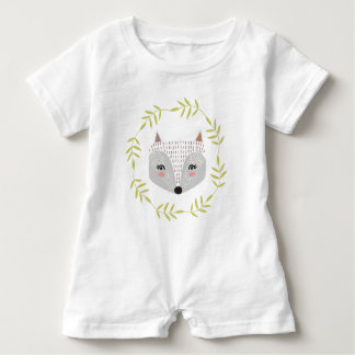 Foxy Faced Baby Romper Baby Bodysuit