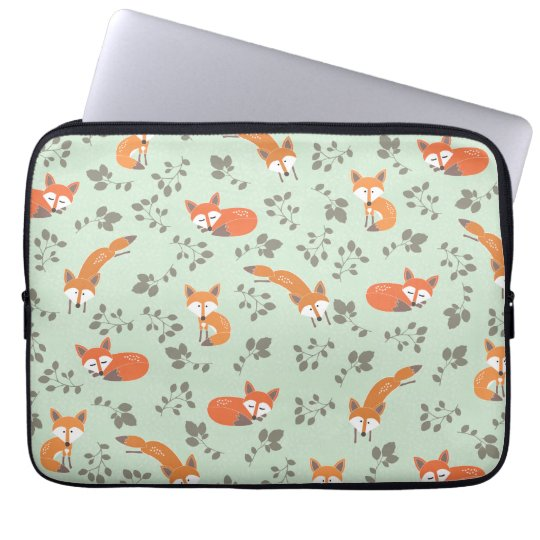 Foxy Floral Laptop Sleeve