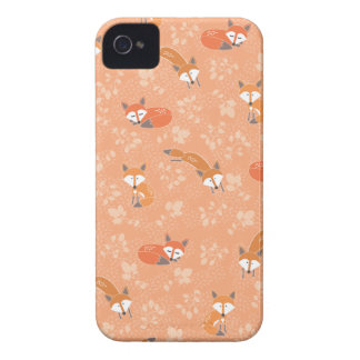 Foxy Floral Pattern Case-Mate iPhone 4 Cases