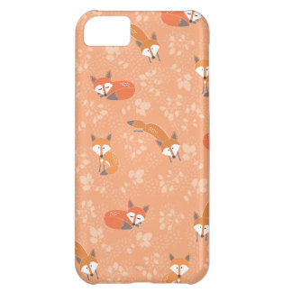 Foxy Floral Pattern iPhone 5C Case