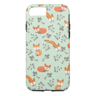 Foxy Floral Pattern iPhone 7 Case