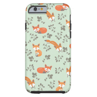 Foxy Floral Pattern Tough iPhone 6 Case