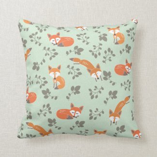Foxy Floral Pillow