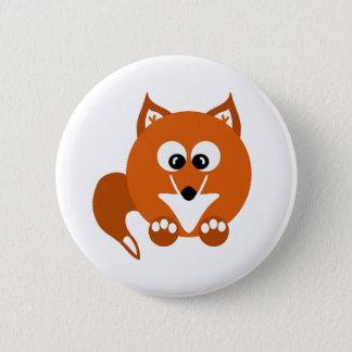 Foxy Fox Cartoon Button Badge