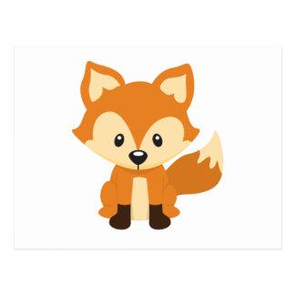 Foxy fox post card