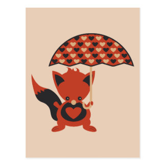 Foxy Hearts Post Cards