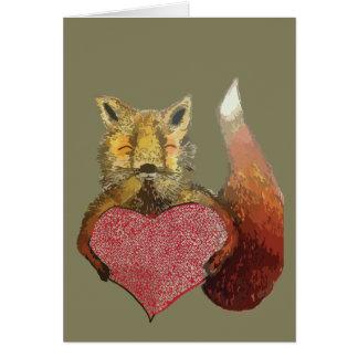 Foxy in Love card