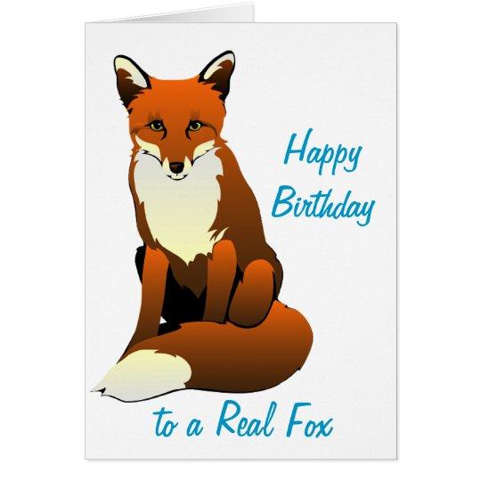 Foxy Lady Birthday Card