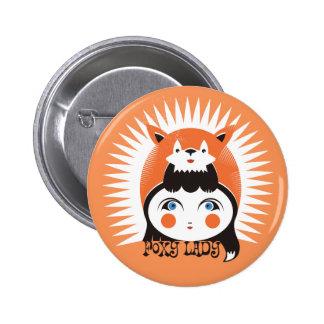 Foxy Lady, Standard, 2¼ Inch Round Button