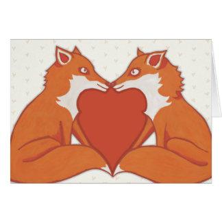 Foxy Love brown Card