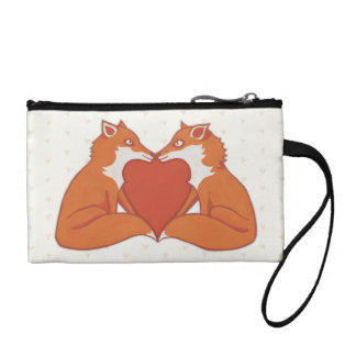 Foxy Love brown Key Coin Clutch Coin Wallet