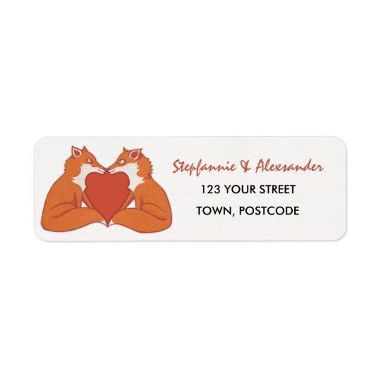 Foxy Love brown Return Address Label