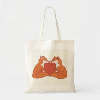Foxy Love brown Tote Bag