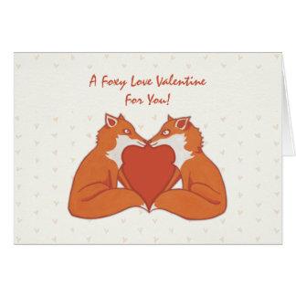 Foxy Love brown Valentine s Card