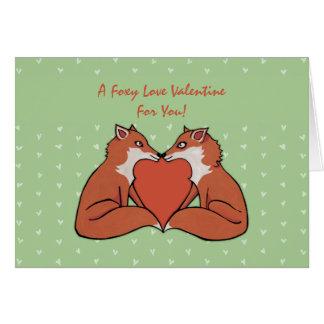 Foxy Love Valentine s Card