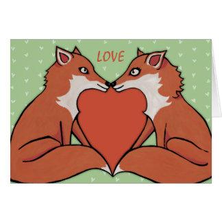 Foxy Love Valentine's Note Card