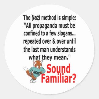 Foxy News Round Sticker