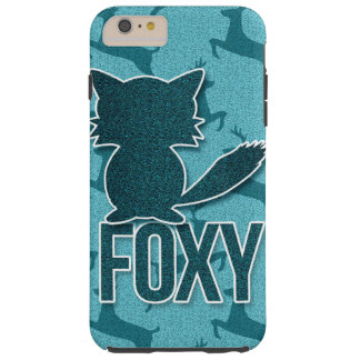 Foxy Play on Words with Woodland Fox in Teal Tough iPhone 6 Plus Case