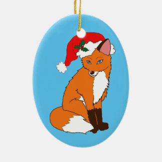 Foxy Santa Christmas Ornament