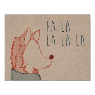 Foxy Series, Fa La La 11 Cm X 14 Cm Invitation Card
