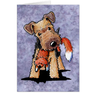 Foxy Welsh Terrier Card