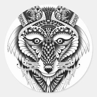Foxy Wolf Classic Round Sticker