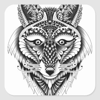 Foxy Wolf Square Sticker