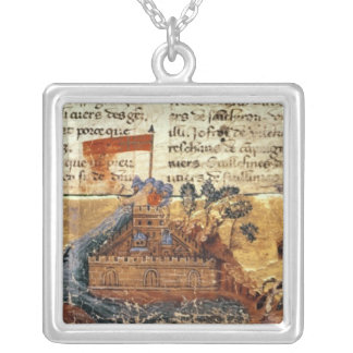 Fr 4972 f.1: Jerusalem in the Crusades Silver Plated Necklace