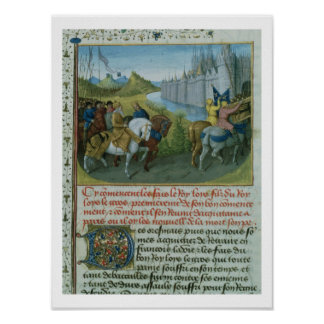 Fr 6465 f.22 Entry of Louis VII into Constantinopl Poster