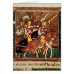 Fr 9084 f.20v: Knights on horseback Card