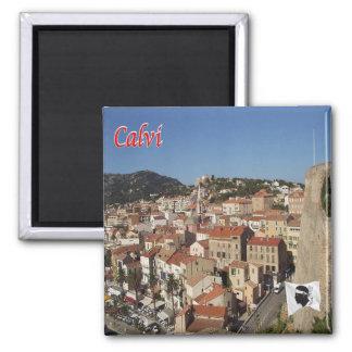 FR - Corsica - Calvi - Panorama Square Magnet