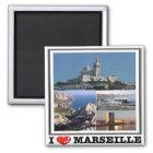 FR - France - Marseille - I Love - Collage Magnet