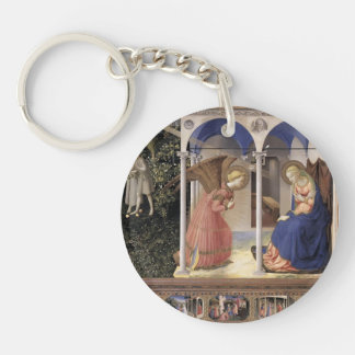 Fra Angelico- Annunciation Single-Sided Round Acrylic Key Ring